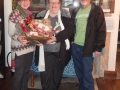 Winner receives Heritage Centre Christmas Hamper prize
